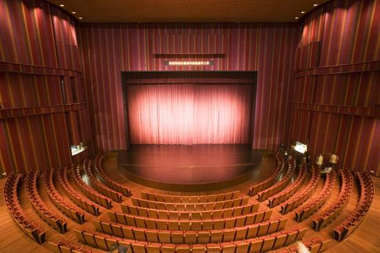 设计上;殊不知作为一个文化场地,国家大剧院升升降降的舞台上打亮的